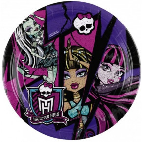 Paptallerkener, små: Monster High