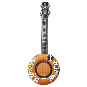 Oppustelig hippie-banjo, orange