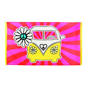 Peace banner - pink & gul hippe banner